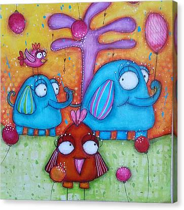 Canvas Print - Friends And Family by Barbara Orenya
