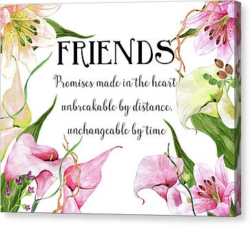 Friends Canvas Print by Colleen Taylor