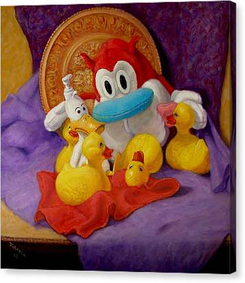 Canvas Print featuring the painting Friends by Donelli  DiMaria