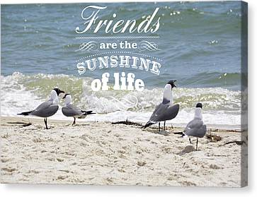 Canvas Print featuring the photograph Friends In Life by Jan Amiss Photography