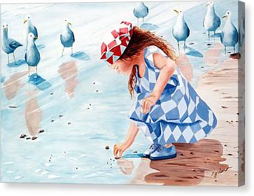 Friends - Prints From Original Oil Painting Canvas Print by Mary Grden Fine Art Oil Painter Baywood Gallery