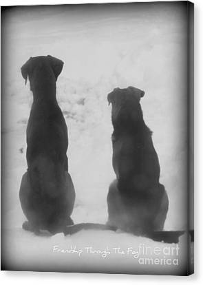 Canvas Print featuring the photograph Friends Through The Fog by Lila Fisher-Wenzel
