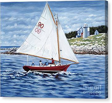 Friendship Sloop Canvas Print by Danielle  Perry