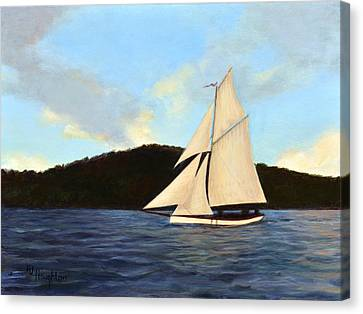 Friendship Sloop Canvas Print by RJ Houghton