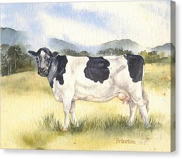 Friesian Cow Canvas Print