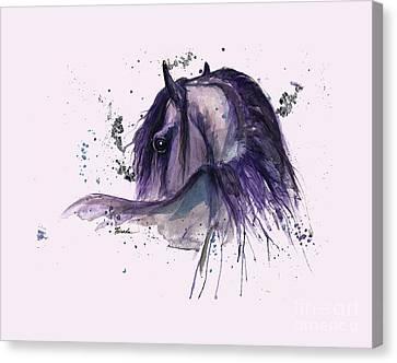 Friesian Horse 2015 11 02 Canvas Print by Angel Tarantella