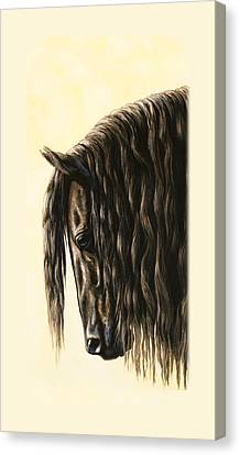 Friesian Horse Phone Case Canvas Print by Crista Forest