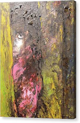Canvas Print featuring the painting Frightened by Koro Arandia