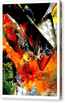 Frightening Comic Book Pages Canvas Print by Charlie Spear