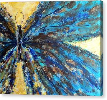Fringed Canvas Print by Mary Arneson
