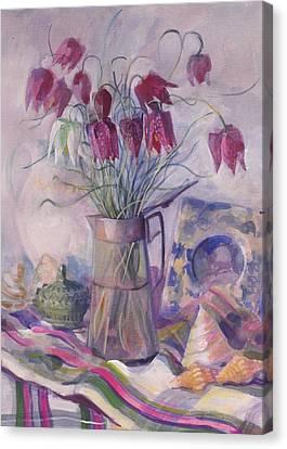 Fritillaries Canvas Print by Sue Wales