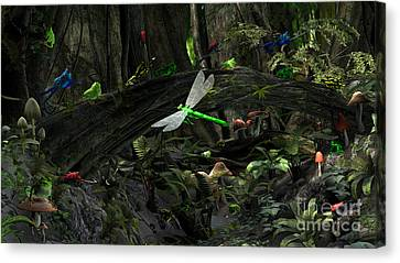Frog Glen Canvas Print by Methune Hively
