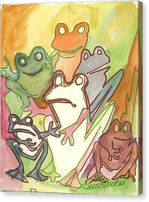 Frog Group Portrait Canvas Print