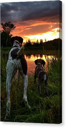 Frog Hunters 2 Canvas Print
