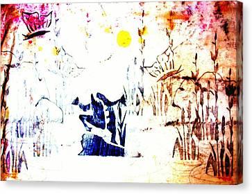 Fuschia Canvas Print - Frog Pond  by Sheri Buchheit