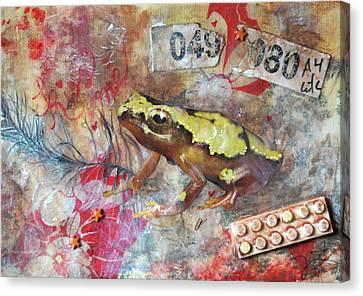 Frog Prince Canvas Print by Jennifer Kelly