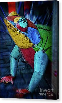 Canvas Print featuring the photograph Frog Prince by Mary Machare