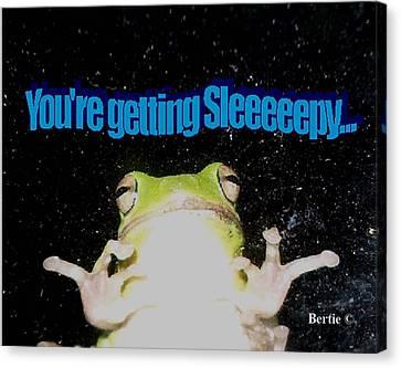 Frog  You're Getting Sleeeeeeepy Canvas Print
