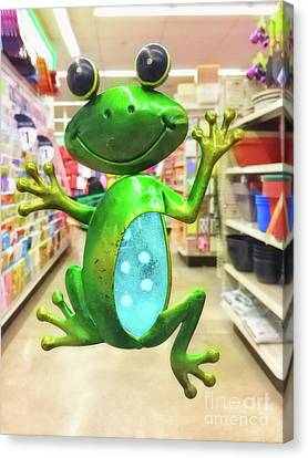 Froggy In Da House Canvas Print by Davy Cheng