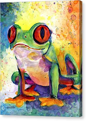 Froggy Mcfrogerson Canvas Print