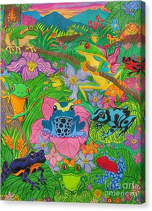 Frogsfrogsfrogs Canvas Print by Nick Gustafson