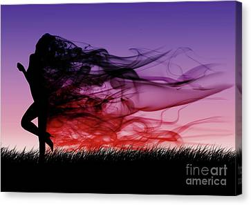 Frolicking Through The Meadow Canvas Print