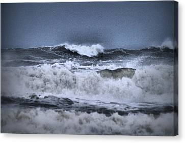 Canvas Print featuring the photograph Frolicsome Waves by Jeff Swan