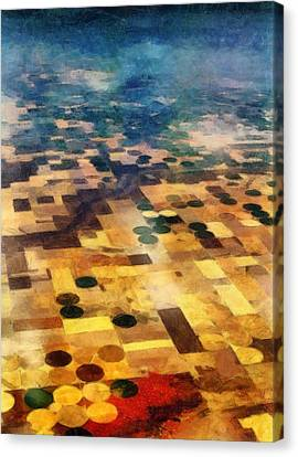 Canvas Print featuring the digital art From Above by Michelle Calkins