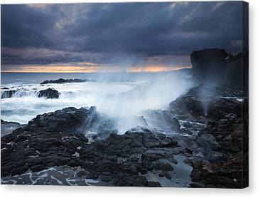 Blowhole Canvas Print - From Beneath by Mike  Dawson
