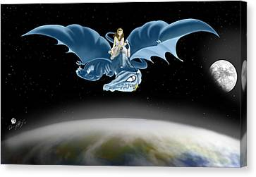 From Heaven To Earth Came Canvas Print by Devaron Jeffery