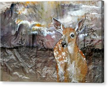 Canvas Print featuring the painting From My Eyes I See by Debbi Saccomanno Chan