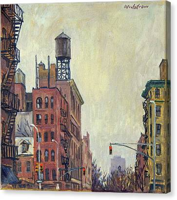 From Orchard Street Nyc Canvas Print by Thor Wickstrom