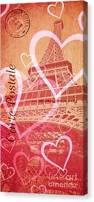 From Paris With Love Canvas Print by Edward Fielding