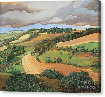 From Solsbury Hill Canvas Print by Anna Teasdale