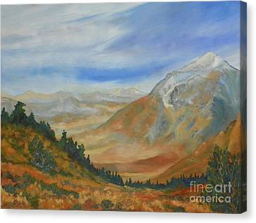 From The Grade Mt Tom Canvas Print by Pat Crowther