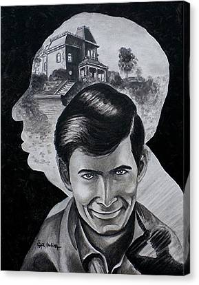 Canvas Print featuring the painting From The Mind Of Hitchcock by Al  Molina