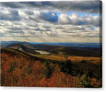 Canvas Print - From The Nj At Looking South Along The At by Raymond Salani III