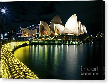 Canvas Print - From The Other Side - Sydney Opera House - Vivid Sydney by Bryan Freeman