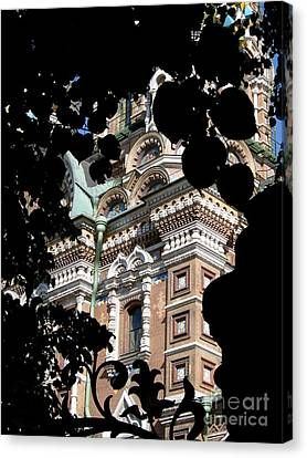 Canvas Print featuring the photograph From The Park by Robert D McBain