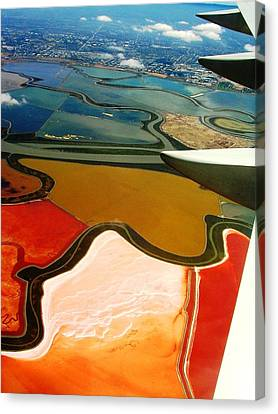 From The Plane I Canvas Print by Elizabeth Hoskinson