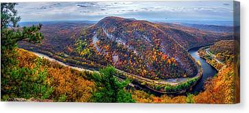 Canvas Print featuring the photograph From The Top Of Mount Tammany by Mark Papke