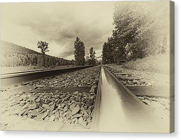 Canvas Print featuring the photograph From The Track Antique by Darcy Michaelchuk