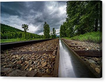 Canvas Print featuring the photograph From The Track by Darcy Michaelchuk