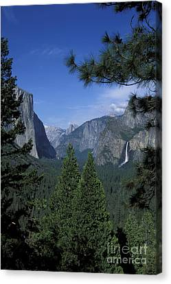 Canvas Print featuring the photograph From Tunnel View In Spring by Stan and Anne Foster