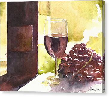 From Vine To Glass Canvas Print by William Beaupre