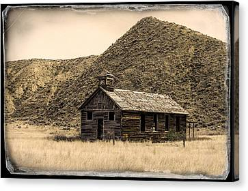 Country Schools Canvas Print - From Yesteryear by Todd Klassy