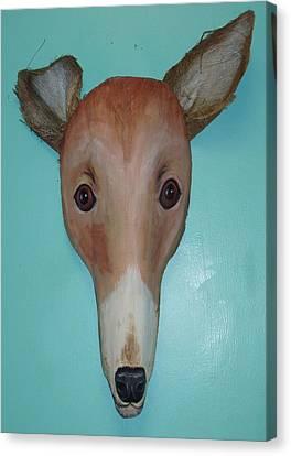 Greyhound Canvas Print - Frondly Greyhound by Ellen Burns