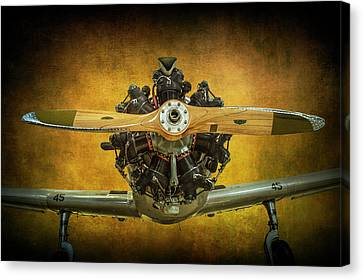 Front End Of A Fairchild Pt-23 Cornell Monoplane Trainer Canvas Print by Randall Nyhof
