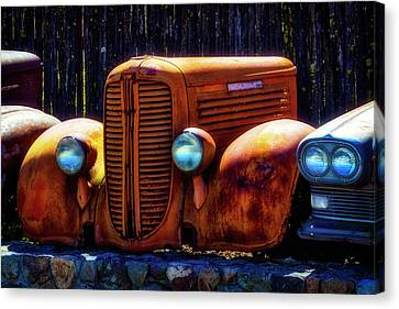 Front End Of Old Dodge Canvas Print by Garry Gay
