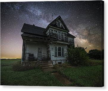 Abandoned Houses Canvas Print - Front Porch  by Aaron J Groen
